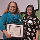 Good Neighbor Award - Hillyard Hobo Bulletin, editor Pam Farnsworth
